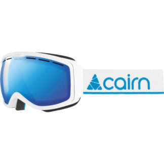 cairn-funk-otg-spx3000mat-white-blue masque de ski junior porteur de lunettes