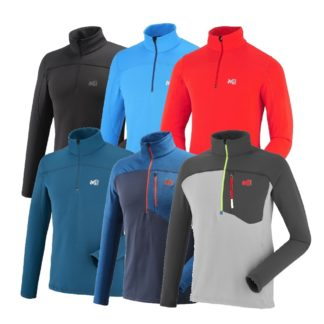 Millettechnostretch pullover polaire homme