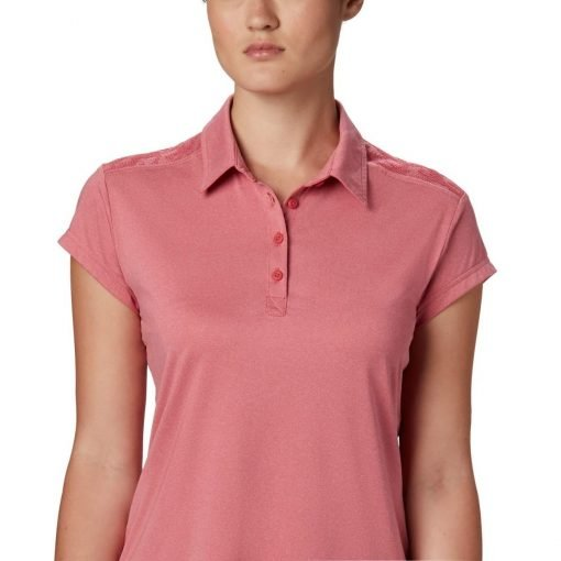 columbia-peak-to-point-II-polo-rouge-pink-heather-polo-technique-femme-2