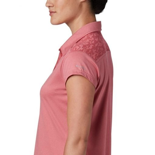columbia-peak-to-point-II-polo-rouge-pink-heather-polo-technique-femme-3