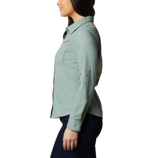 columbia-silver-ridge-2.0-shirt-light-litchen-chemise-randonnee-ml-femme-3