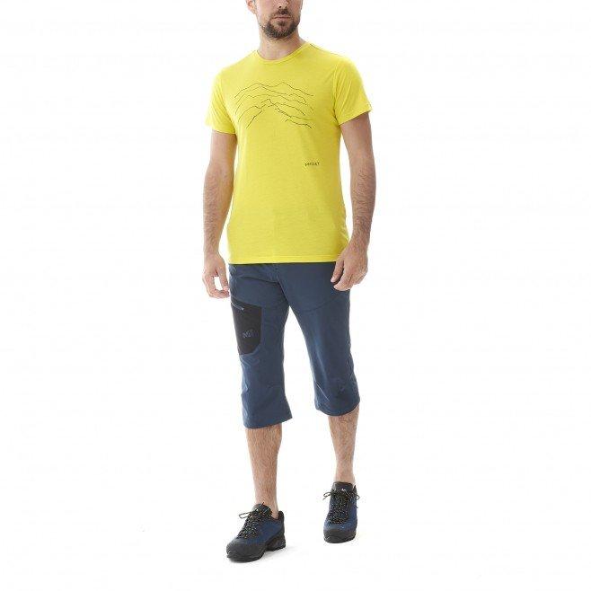 millet-blurry-mountain-ts-wild-lime-t-shirt-randonnee-homme-2
