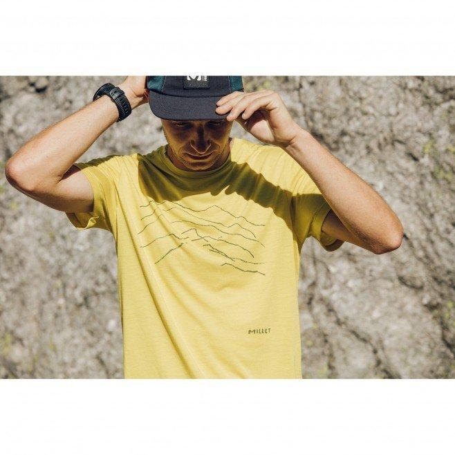 millet-blurry-mountain-ts-wild-lime-t-shirt-randonnee-homme-3